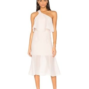 Keepsake The Label Blush Lilac Float Midi dress